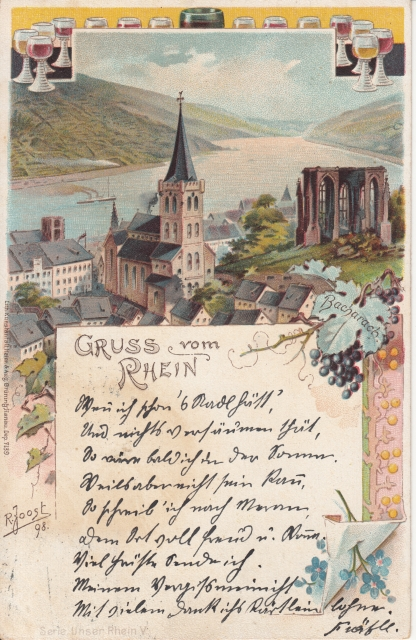 Rheingruss Litho Bacharach 1899